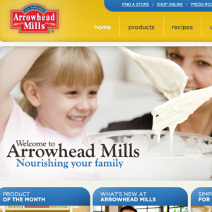 Website Design Company - Arrowhead Mills