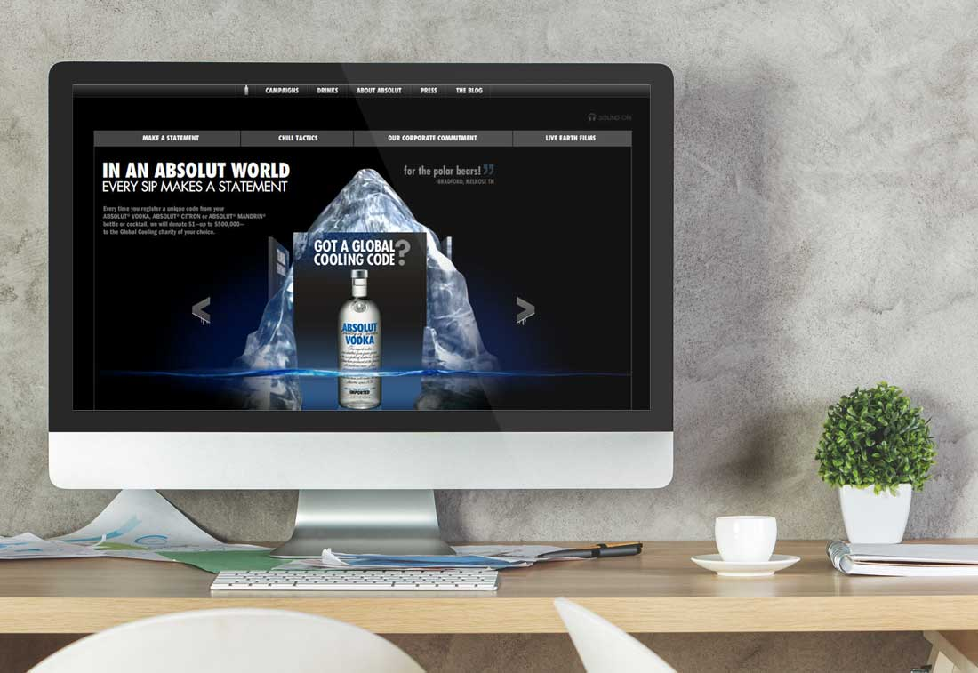 Website Design Company - Absolut Vodka
