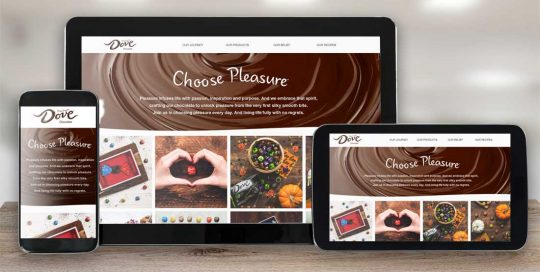 Website Design Company - Dove Chocolate
