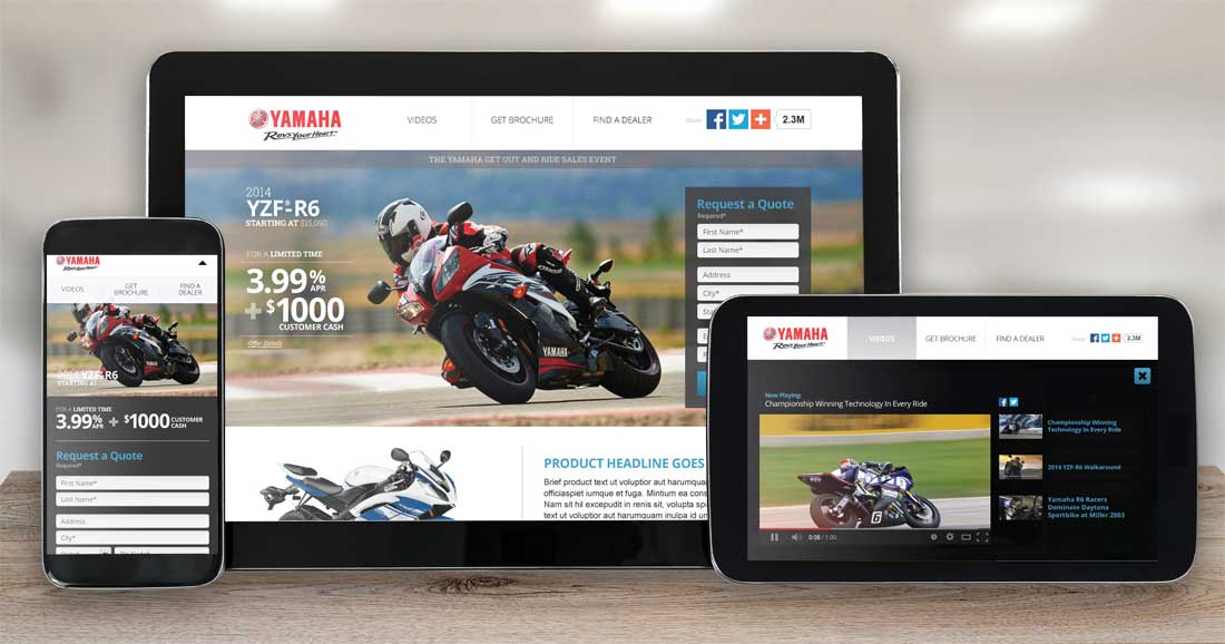 Website Design Company - Yamaha Motorsports
